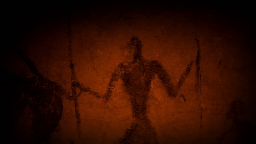 Cave Art Human Figures In Fire Light | Shutterstock HD Video #28186009