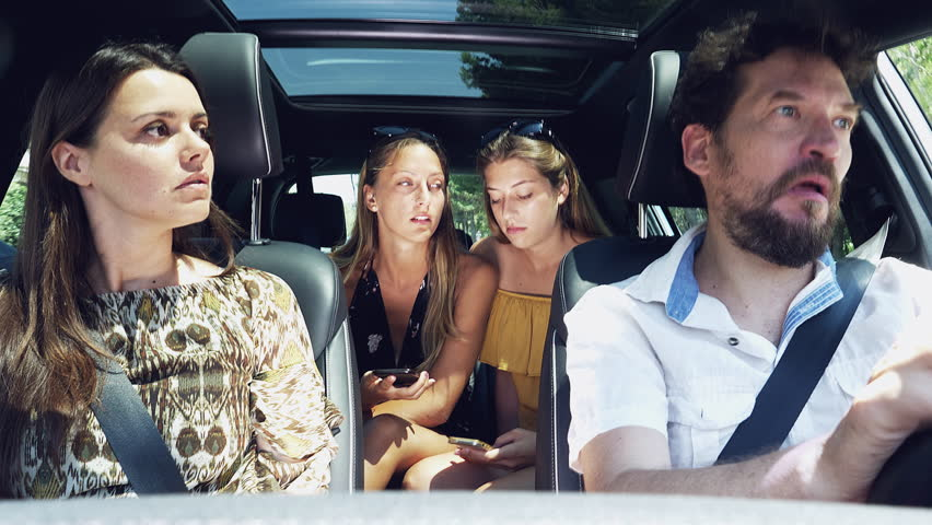 Cool Couple Picking Up A Friend With Car Stock Footage Video