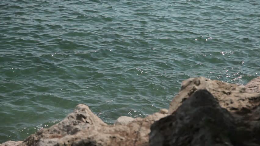 Rocks In Spanish Part - 39: Coastal Rocks And Sea Surf. Spanish Beaches In Costa Du0027en Blanes. Mallorca