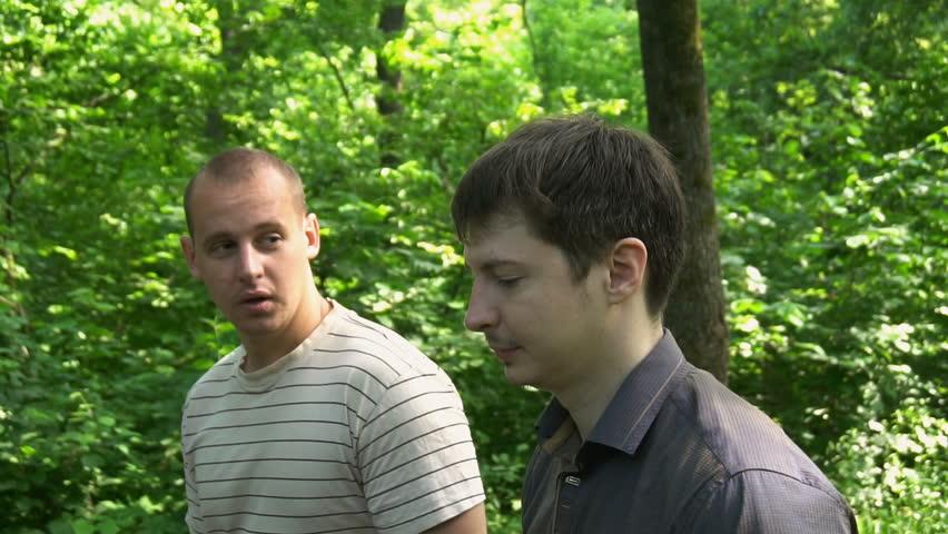 Gay men in the woods