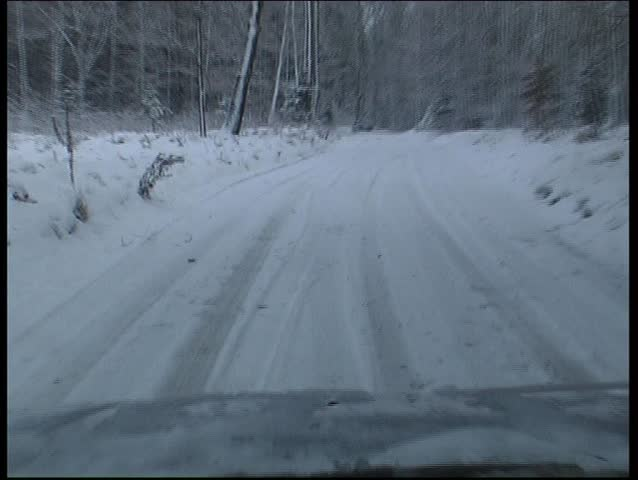 28 November 2008. Pskov. Russia. In Europe, fell a lot of snow, roads and villages in the snow.