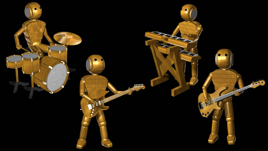 Robots Rock Band Animation