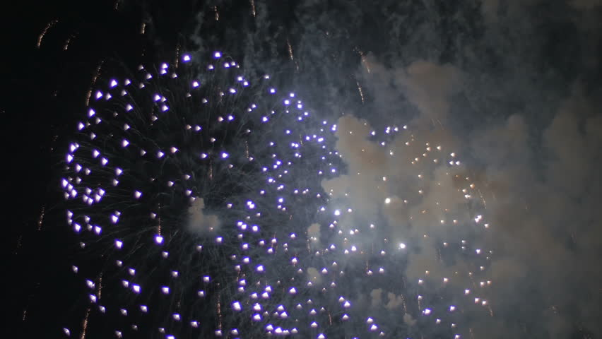 Colorful fireworks in the night sky. Holiday.   Shutterstock HD Video #28359304