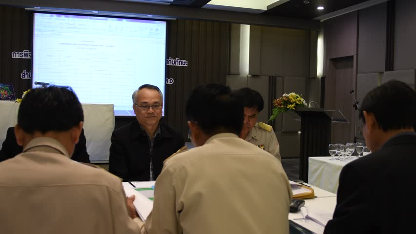 NAKHONRATCHASIMA, THAILAND-JULY 3: Group of primary school director and teachers in academic papers evaluation and rewarding activities, July 3, 2017 in Nakhonratchasima, Thailand.    Shutterstock HD Video #28410304