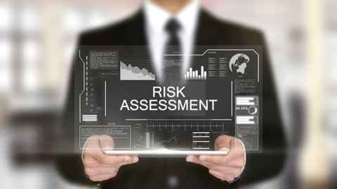 Risk Assessment, Hologram Futuristic Interface, Augmented Virtual Reality