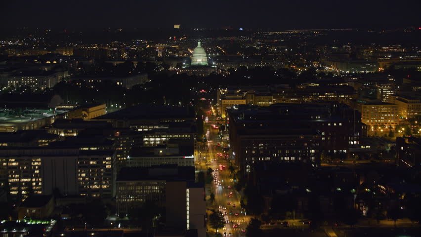 Washington, D.C. circa-2017, Aerial approach to Capitol from North Capitol Street. Shot with Cineflex and RED Epic-W Helium.
