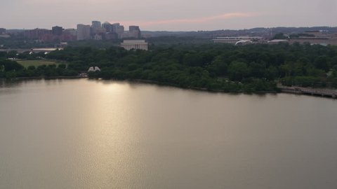 Washington, D.C. circa-2017, Fly from Tidal Basin to Martin Luther King Jr. Memorial. Shot with Cineflex and RED Epic-W Helium.