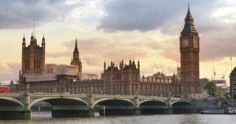 London United Kingdom Westminster Bridge looking at Big ben and Parliament