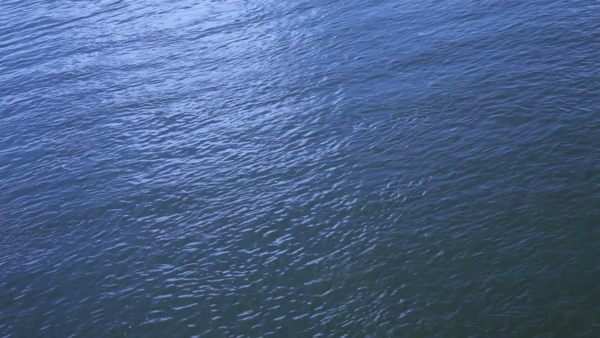 Top View On Blue Water Stock Footage Video (100% Royalty