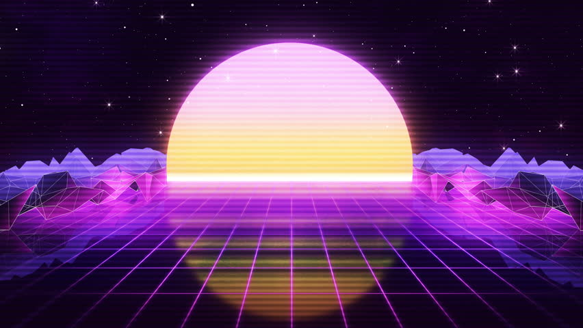 Vaporwave stock footage video shutterstock - Space 80s wallpaper ...