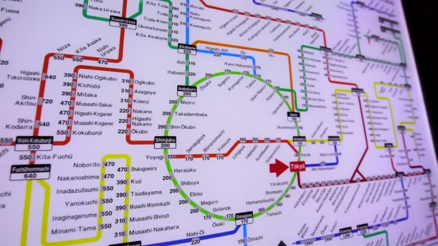 Tokyo Subway Map Hd.Tokyo Japan December 13 Stock Footage Video 100 Royalty Free 28640614 Shutterstock