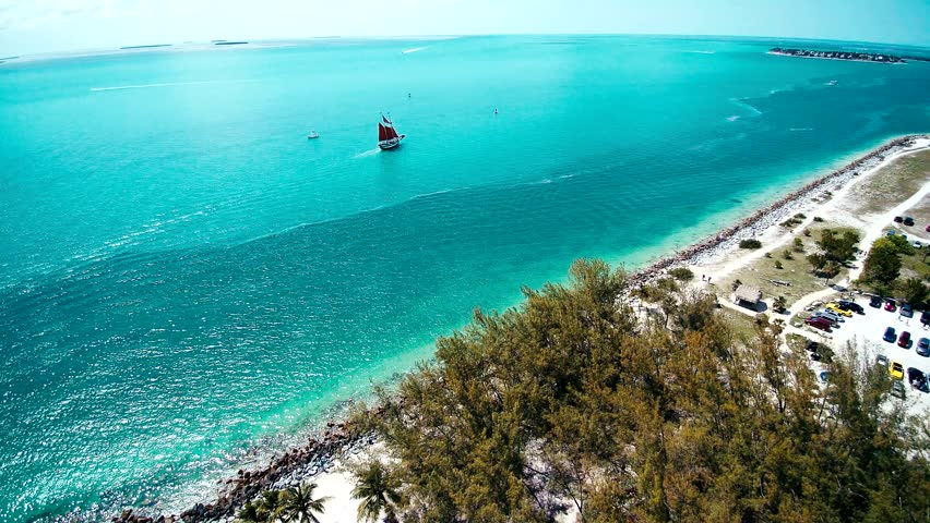 Sailboat on the ocean with happy tourist Key West | Shutterstock HD Video #28726747