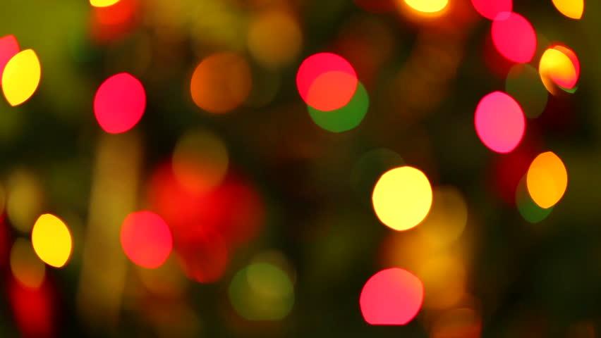 christmas lights illumination hd stock video clip - Sparkling Christmas Lights