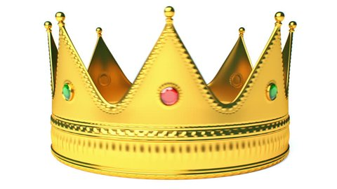 King's Crown Isolated On White Seamless Loop