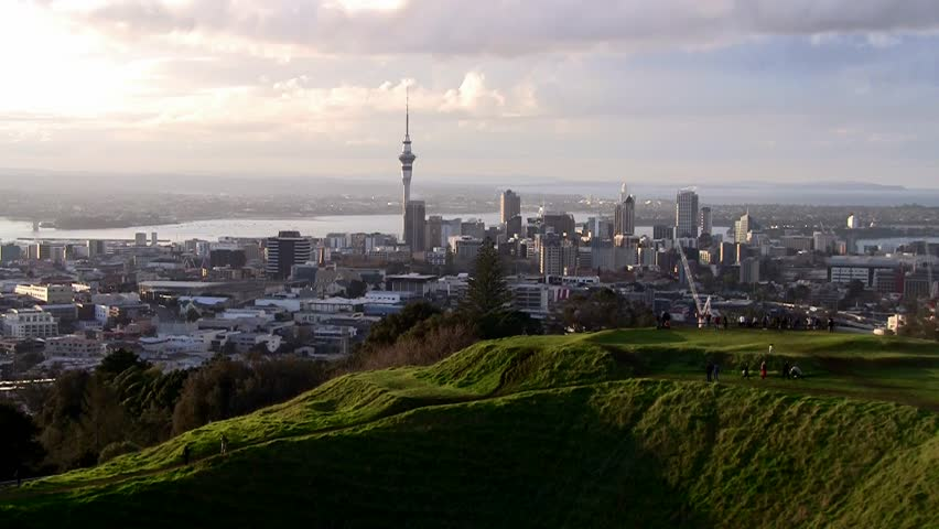 Auckland City scene in late afternoon | Shutterstock HD Video #2891494