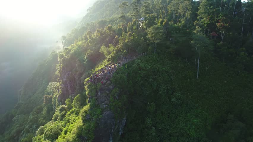 Aerial castle cliff from west java Indonesia  | Shutterstock HD Video #28959454