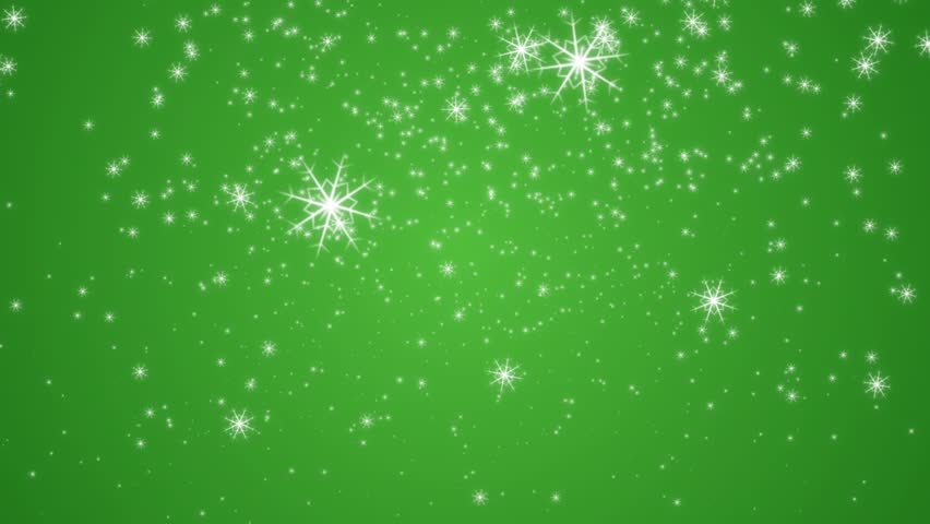 Green Snowflakes Background