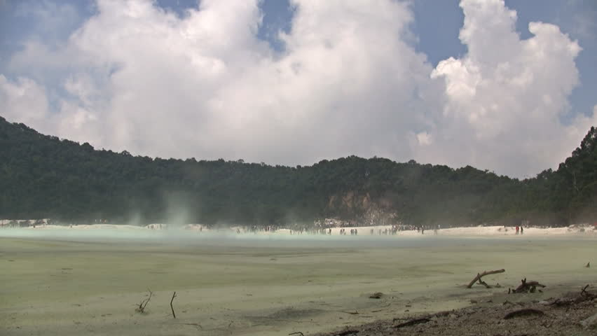 Timelapse of Kawah putih lake crater in West Java