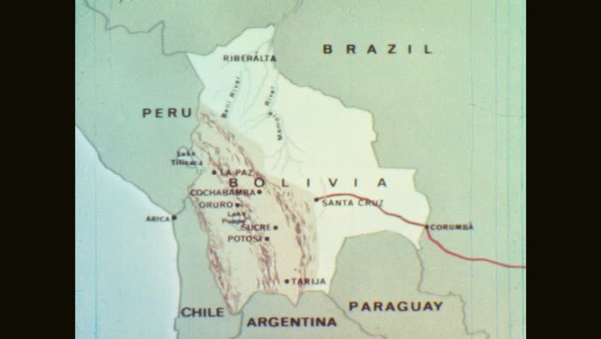 S Map Of Bolivia And Neighboring Countries Stock Footage - Map argentina neighboring countries