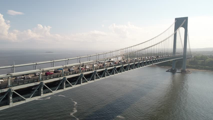 Drone Footage of the Verrazano Stock Footage Video (100% Royalty