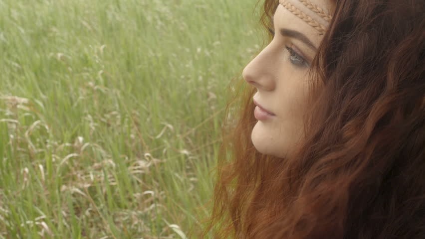 Face of hippie woman in field | Shutterstock HD Video #29031634