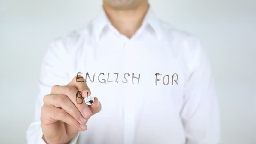 English For Beginners, Man Writing on Glass | Shutterstock HD Video #29040754