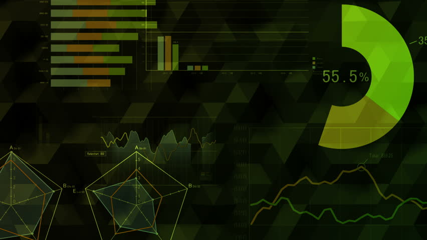 Business Data Graph Chart Bar 4k Stock Footage Clip
