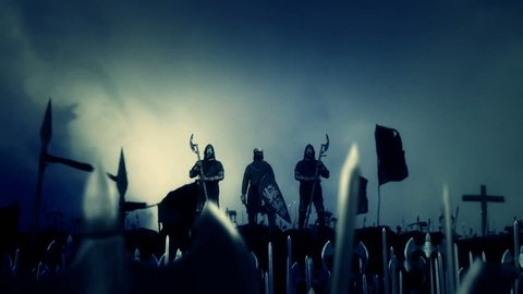 King Richard the Lionheart Leading His Massive Army to War