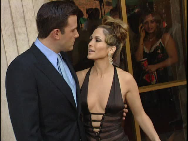 Los Angeles, CA - JULY 27, 2003: Ben Affleck, Jennifer Lopez, walks the red carpet at the Gigli Premiere held at the Mann National Theatre
