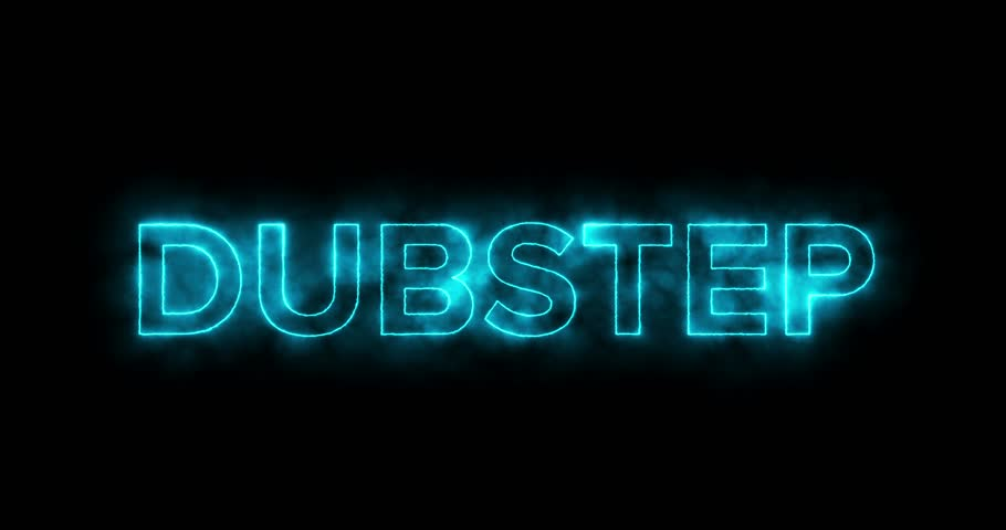 Glowing Bright Dubstep Text for Commercial or Concert Backgrounds