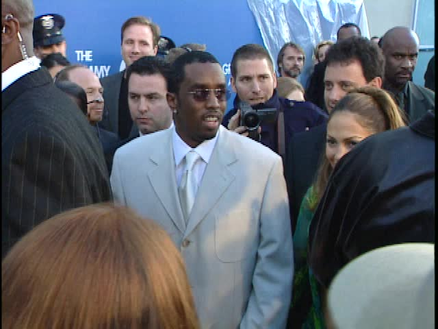 Los Angeles, CA - FEBRUARY 23, 2000: Sean Diddy Combs, Jennifer Lopez, walks the red carpet at the Grammy Awards 2000 held at the Staples Center