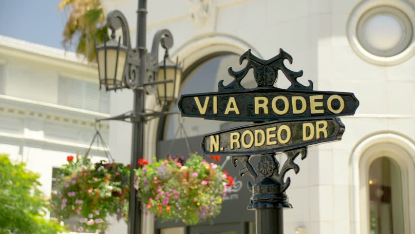Via Rodeo and N. Rodeo Dr. Sign in Beverly Hills | Shutterstock HD Video #29228941