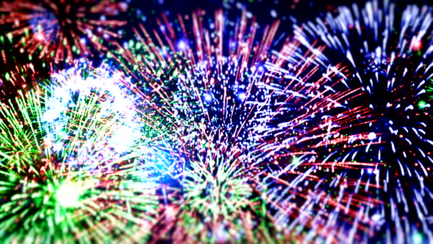 "Happy New Year different animation ( Series 6 - Version from 1 to 5 ) + [ built-in flash red and blue fireworks ] + "" You can find every week new Footage ""+"" Have a look at the other Footage series ""  
