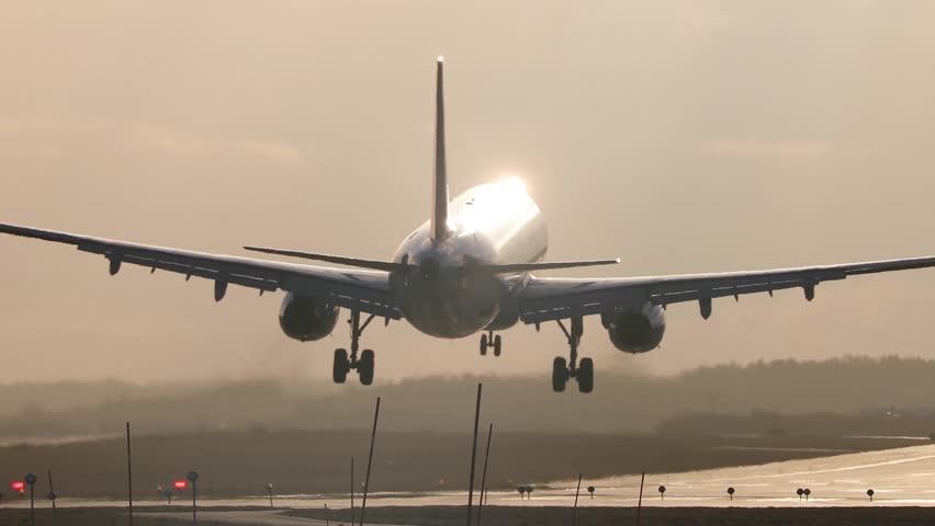 Jet Airplane Landing   Shutterstock HD Video #29253604