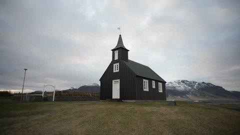 Brautarholtskirkja Church in Iceland/ Brautarholtskirkja Church/ Brautarholtskirkja Church in Iceland on the morning.