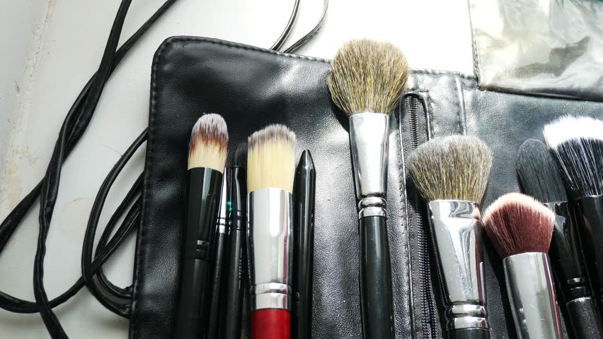 Brushes for make-up. Flat lay frame. #29322133