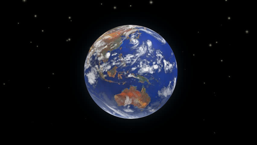 3d rotation of planet earth in universe world globe showing 3d rotation of planet earth in universe falling stars world globe showing geographical location continents australia sciox Choice Image