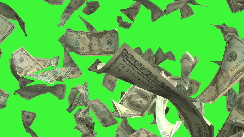 Falling Dollar money in slow motion 4K Loopable. High quality falling Dollar banknotes in 4K. Video is Loopable with matte channel   Shutterstock HD Video #29484694