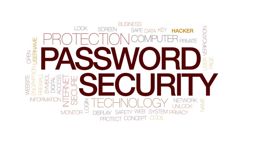 Password security animated word cloud, text design animation. Kinetic typography.   Shutterstock HD Video #29503234