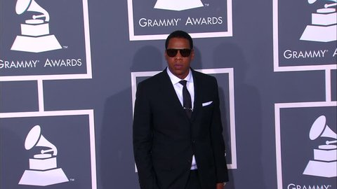 Los Angeles, CA - FEBRUARY 08, 2009: Jay Z, walks the red carpet at the Grammy Awards 2009 held at the Staples Center