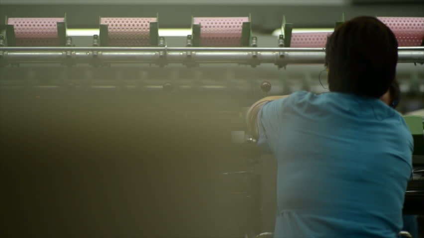 Industrial textile factory - spinning | Shutterstock HD Video #29580784