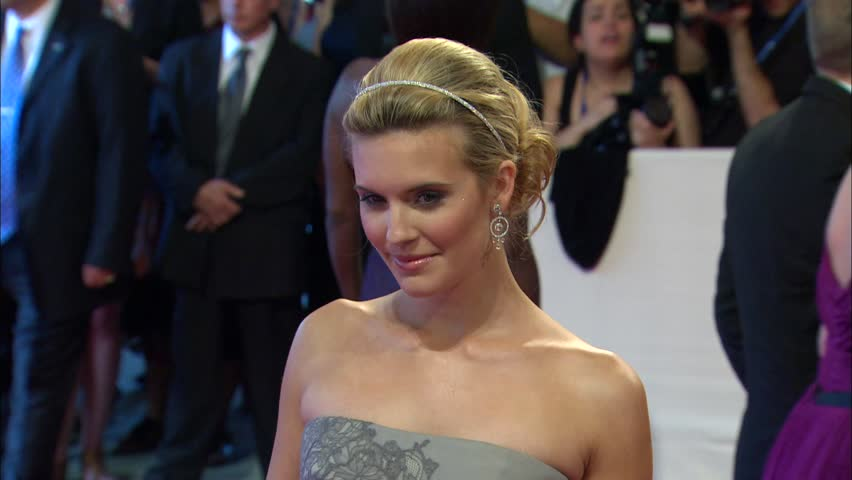 New York, NY - MAY 03, 2010: Maggie Grace, walks the red carpet at the American Woman: Fashioning a National Identity Costume Institute Gala held at the The Metropolitan Museum of Art