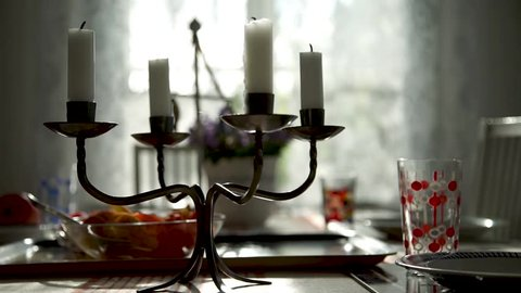 Candels on table