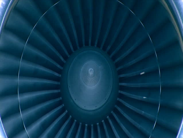 Big cargo jet's turbine rotating in blue. SEAMLESS LOOP | Shutterstock HD Video #298594