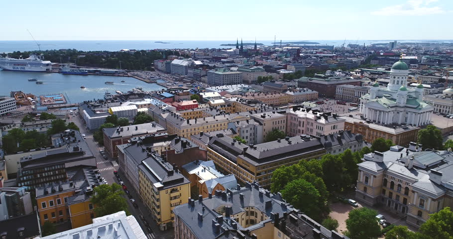 Aerial view of Helsinki, Finland  | Shutterstock HD Video #29876284
