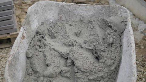 Wheelbarrow full of cement Concrete wheelbarrow