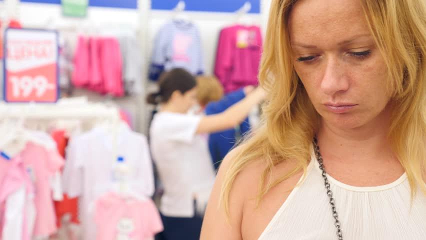 Shop Of Womens Underwear Womens Panties On Hangers In A Sex Store 4k Slow Motion