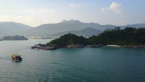Trio Beach, Sai Kung Junk Boat - Hong Kong Drone Footage