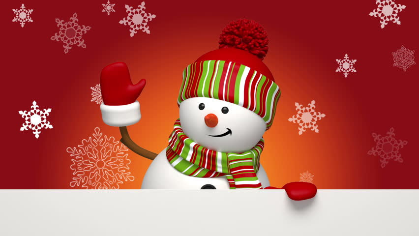 Christmas snowman salutation | Shutterstock HD Video #3003784