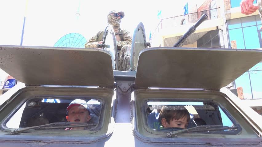 Header of armoured car